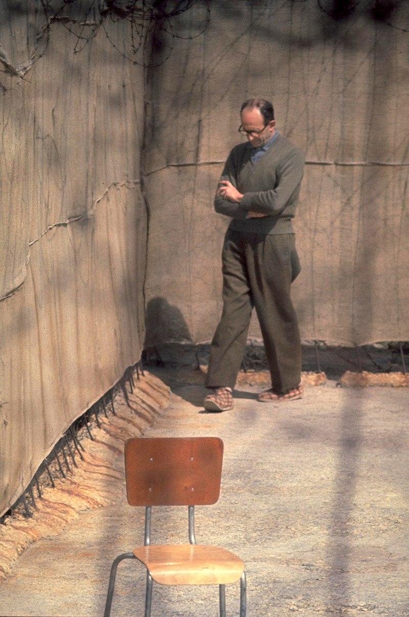 Эйхман в тюрьме в Рамле.