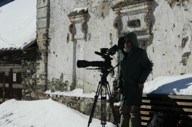 Аномальные морозы стали испытанием для съёмочной команды.