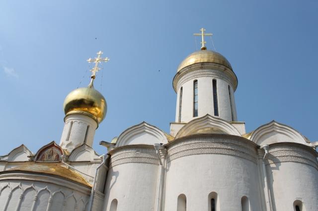Троицкий храм в Троице-Сергиевой лавре, где хранятся мощи святого Сергия Радонежского.