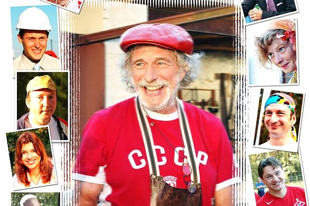 Пьер Ришар на съемках в тамбовской деревне