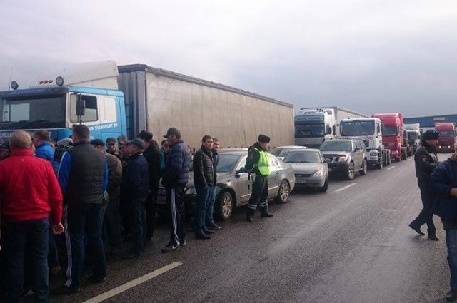 Акция протеста волгоградских дальнобойщиков.