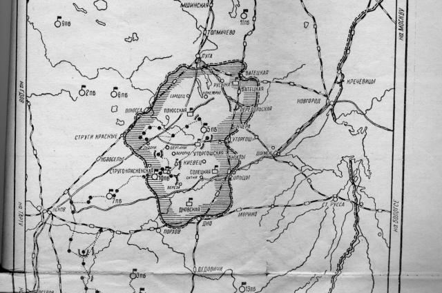 Партизаны действовали на территории площадью в 11 тысяч квадратных километров.