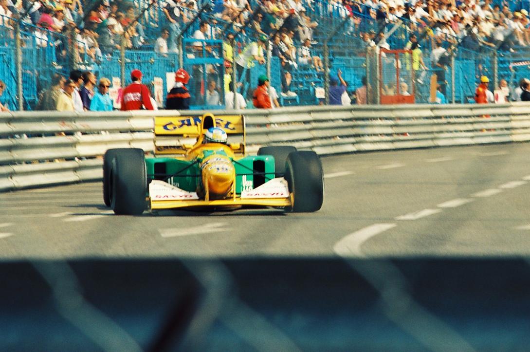 Михаэль Шумахер в составе Benetton на Гран-при Монако 1992 года