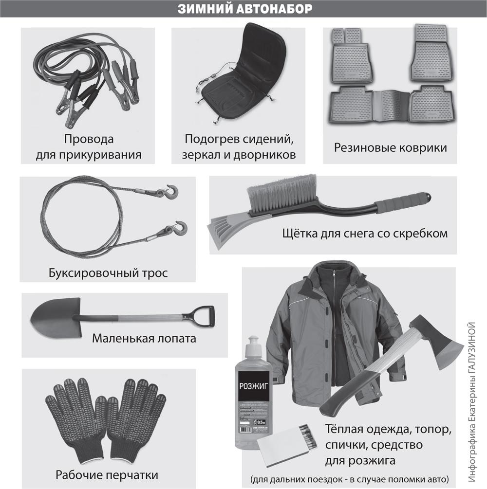 Эти вещи должны быть в «зимнем» багажнике обязательно.