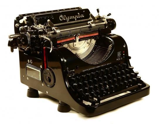Пишущая машинка «Olympia».