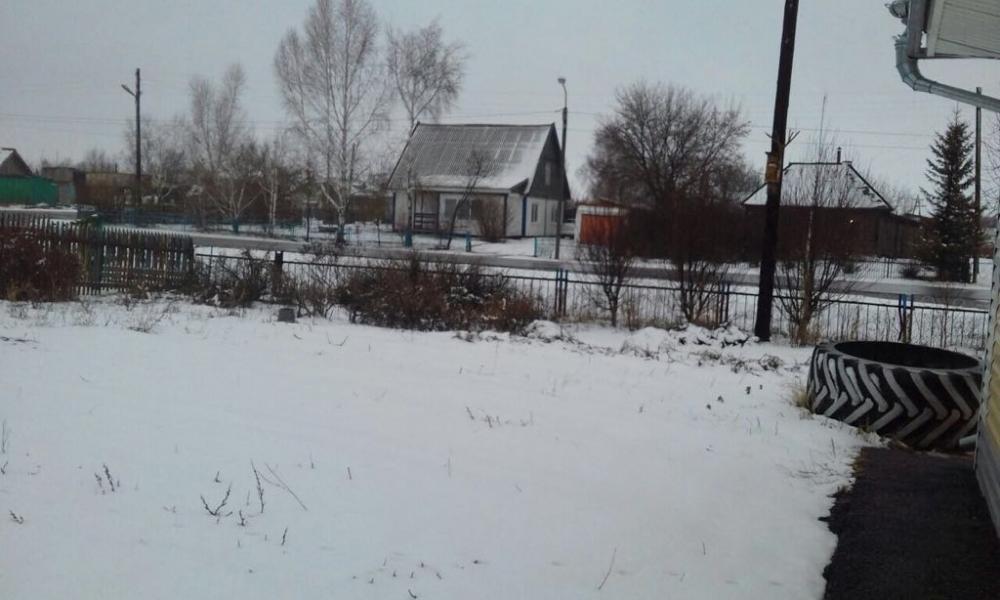 Снегопад в селе Курья.