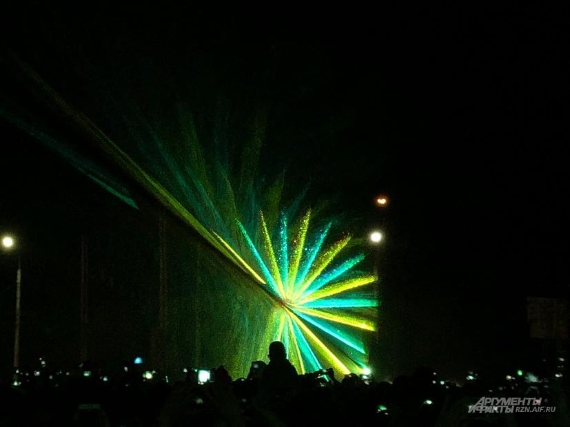 Светомузыкальный фонтан появился в Рязани