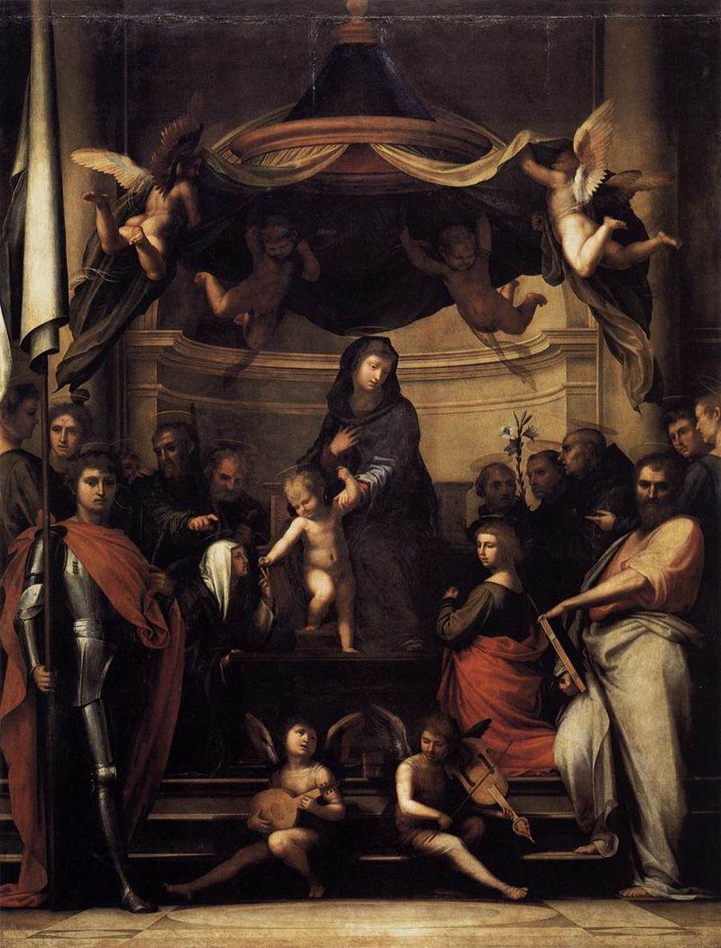 Фра Бартоломео. Мистическая свадьба святой Екатерины Сиенской.