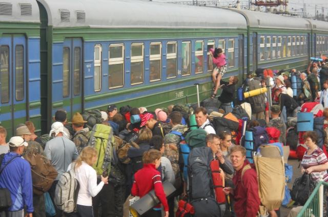 Электричка Междуреченск-Бискамжа, 11 июня 2011 года