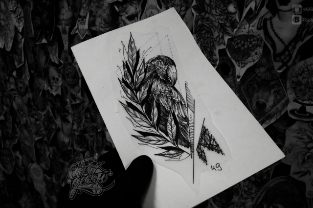 Один из эскизов Александра.