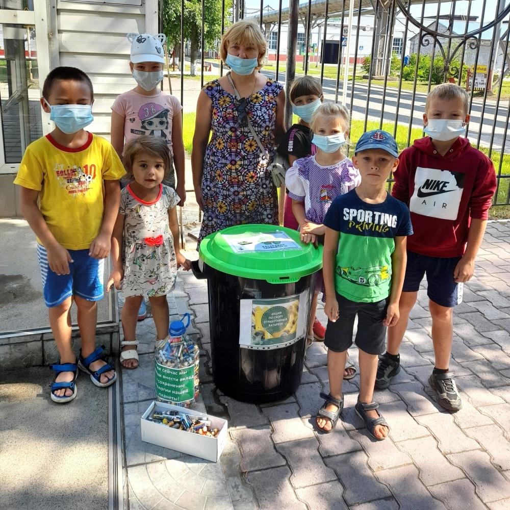 Дети активно участвовали в акции.