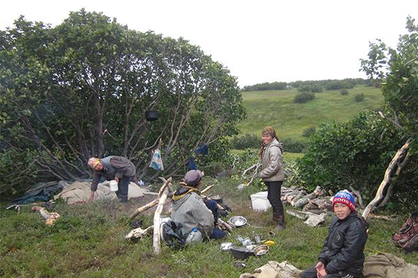 Лагерь оленеводов.