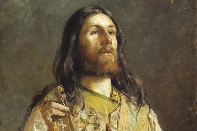 «Портрет диакона», 1888 г. Художник Андрей Рябушкин.