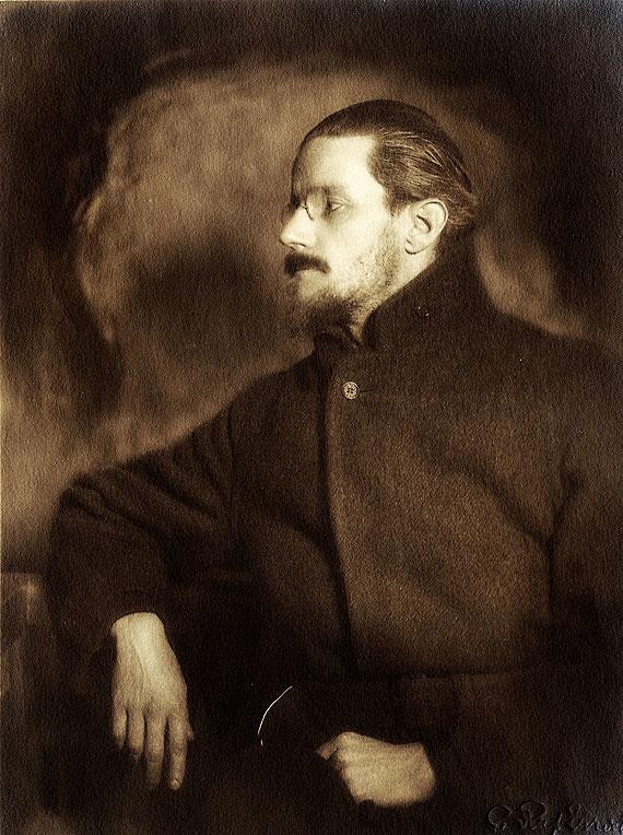 Специально сделанное изображение Джеймса Джойса для бланка подписки на роман Улисс . Париж, 1921 год