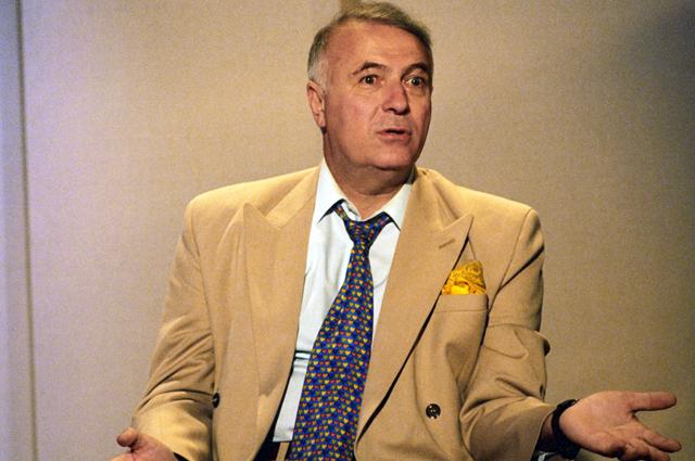 Телецентр «Останкино». Ведущий телепрограммы «Добрый вечер, Москва» Борис Ноткин.