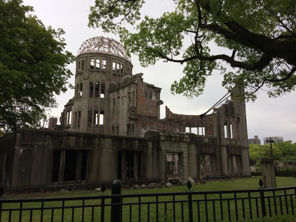 упол Гэмбаку – единственное уцелевшее здание после бомбардировки Хиросимы.