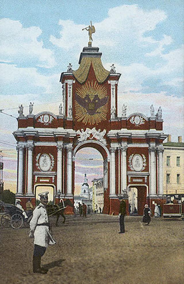 Изображение Красных ворот на дореволюционной открытке