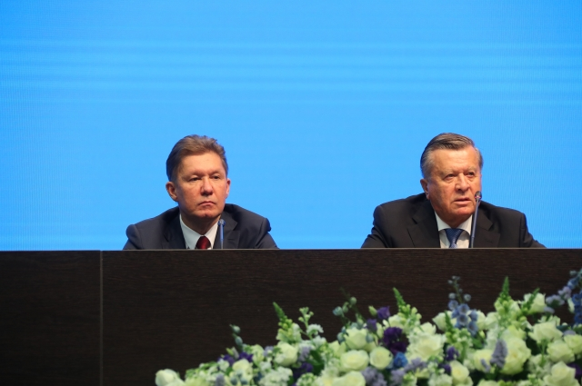 Алексей Миллер и Виктор Зубков отвечают на вопросы представителей СМИ.