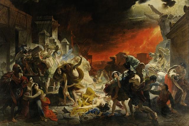 В общей сложности над картиной Брюллов работал 5 лет.