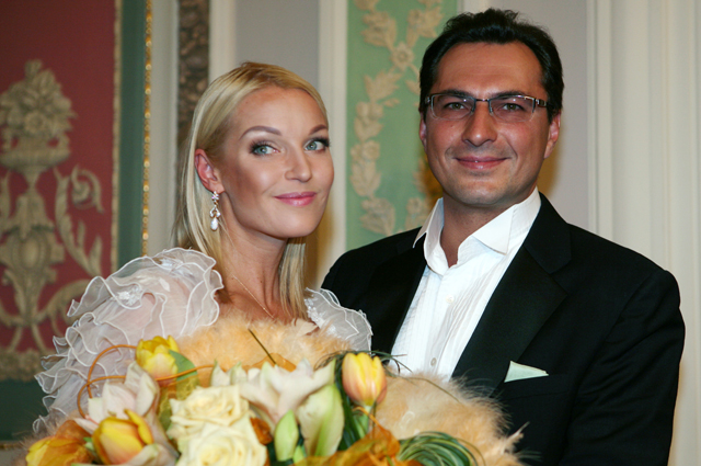 Анастасия Волочкова с супругом Игорем Вдовиным. 2008 г.