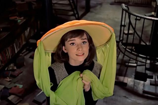 Одри Хепберн в фильме «Забавная мордашка».