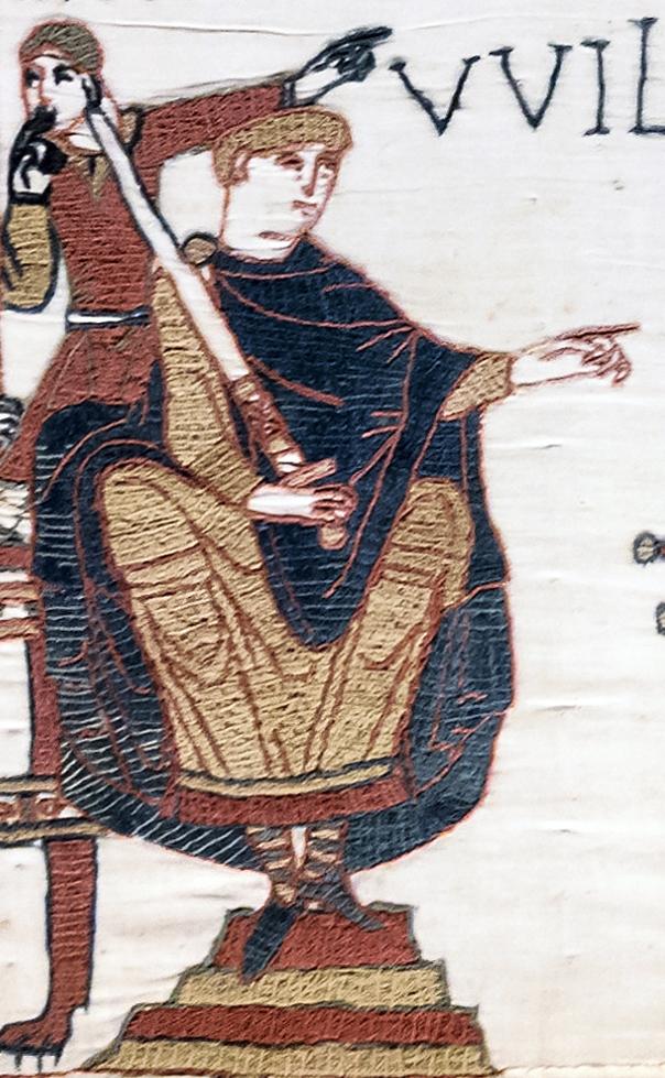 Гийом Бастард, изображение с гобелена из Байё, XI в.