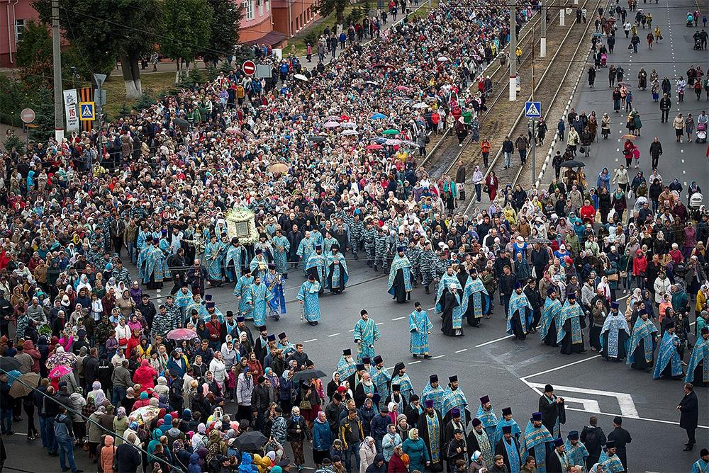 Крестный ход в Курске. 25 сентября 2018 года.