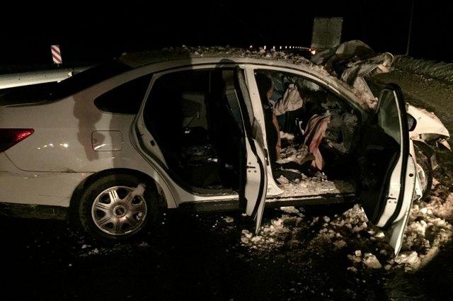 Столкнулись Nissan Almerа и грузовик Scania