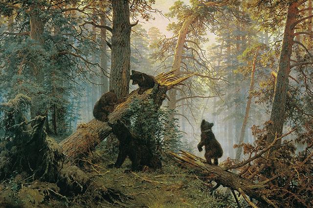 Утро в сосновом лесу . И. Шишкин, К. Савицкий