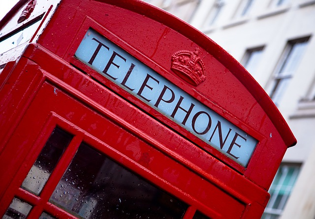 лондон, англия, телефонная будка