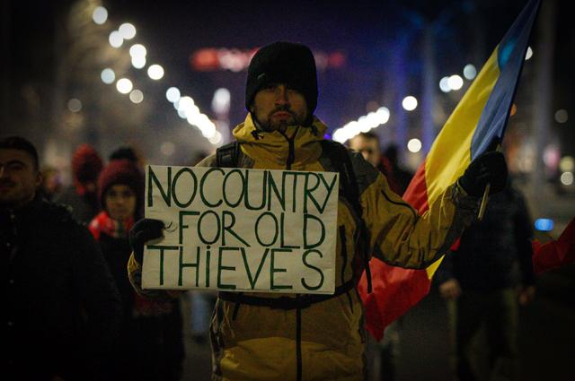 Антиправительственные протесты в Бухаресте.
