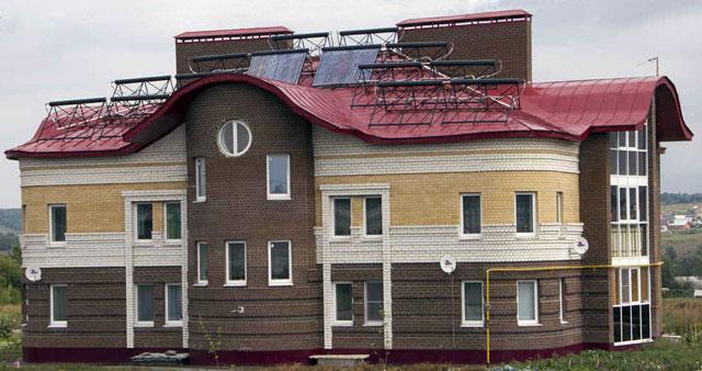 Энергоэффективный дом №17в поулице Октябрьской врабочем поселке Луховка Республики Мордовия.