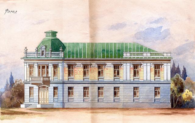 Жилой дом горисполкома. Фасад 1920-е.