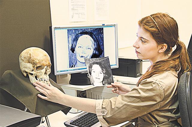 Восстановление внешнего облика по черепу в лаборатории медико- криминалистических экспертиз ЭКЦ МВД России.