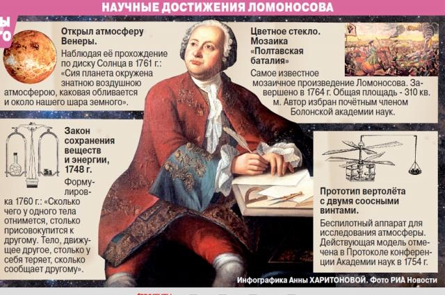 Ломоносова заслуженно считают выдающимся ученым.