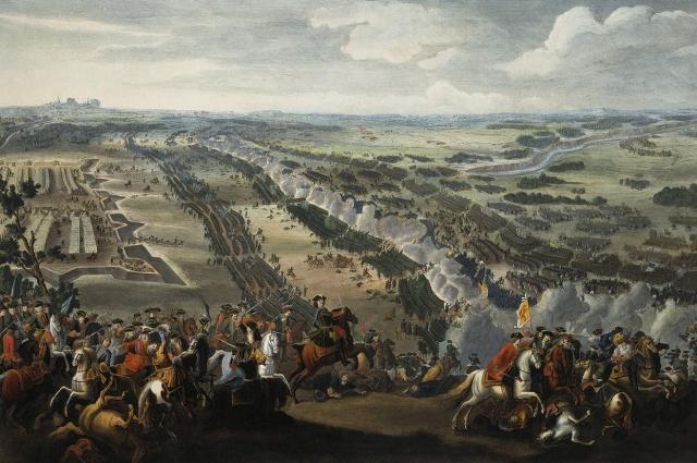 Полтавская битва на картине Дениса Мортена.