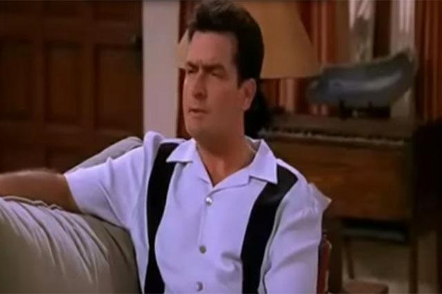 Чарли Шин в сериале «Два с половиной человека».
