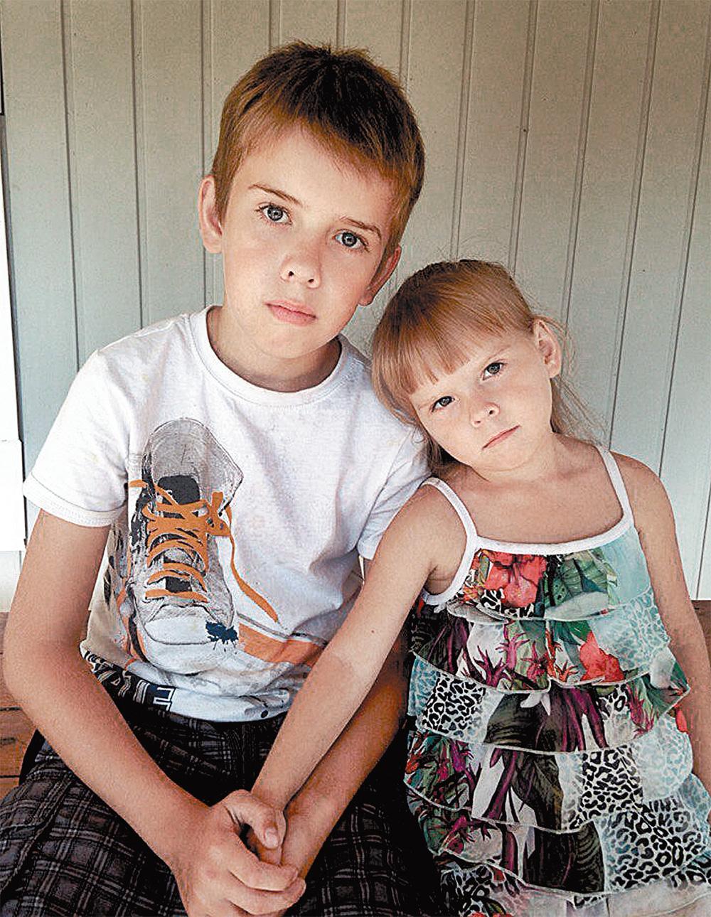 Миша и Настя Пушковы.