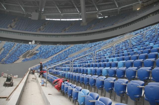 В чаше стадиона поддерживается постоянная температура +10 градусов.