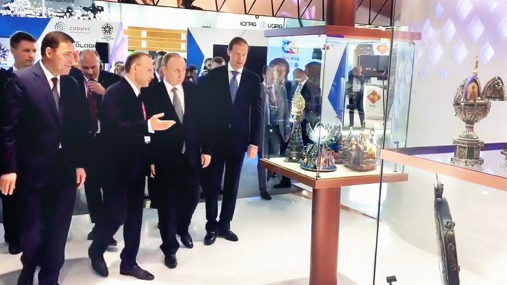 Визит президента стал центральным событием Международной выставки «Иннопром–2017».