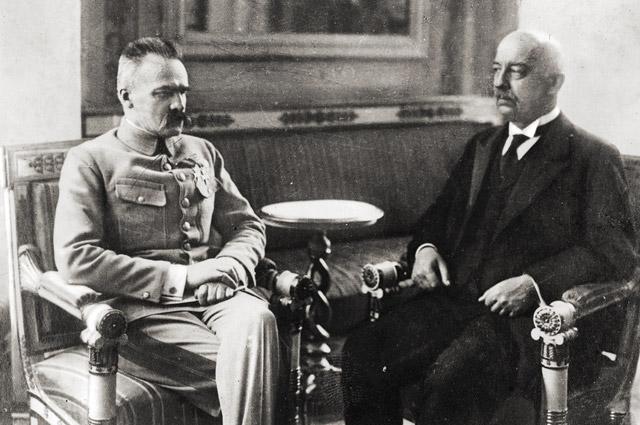 Юзеф Пилсудский и Габриэль Нарутович.