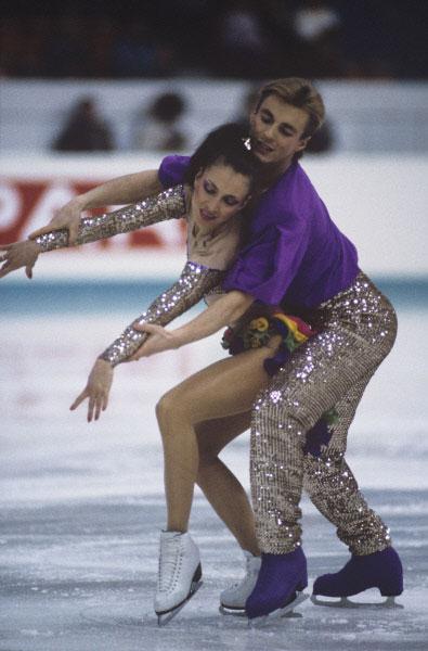 Майя Усова и Александр Жулин на чемпионате Европы по фигурному катанию. 1990 год