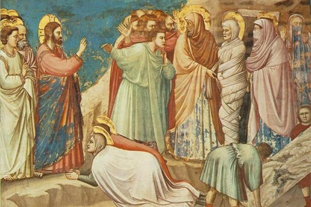 Воскрешение Лазаря. Фреска Джотто ди Бондоне