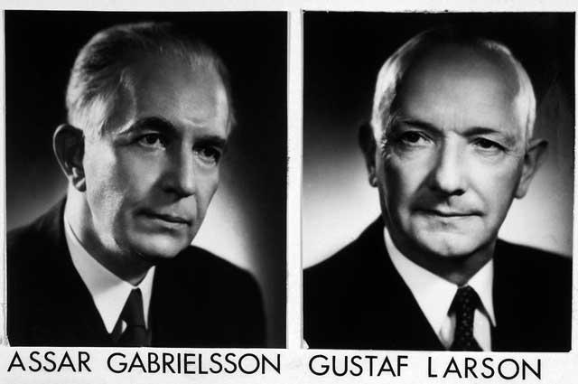 Создатели автомобильной компании Volvo Ассар Габриэльссон и Густав Ларсон