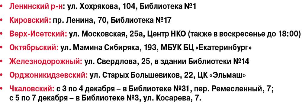 список адреса