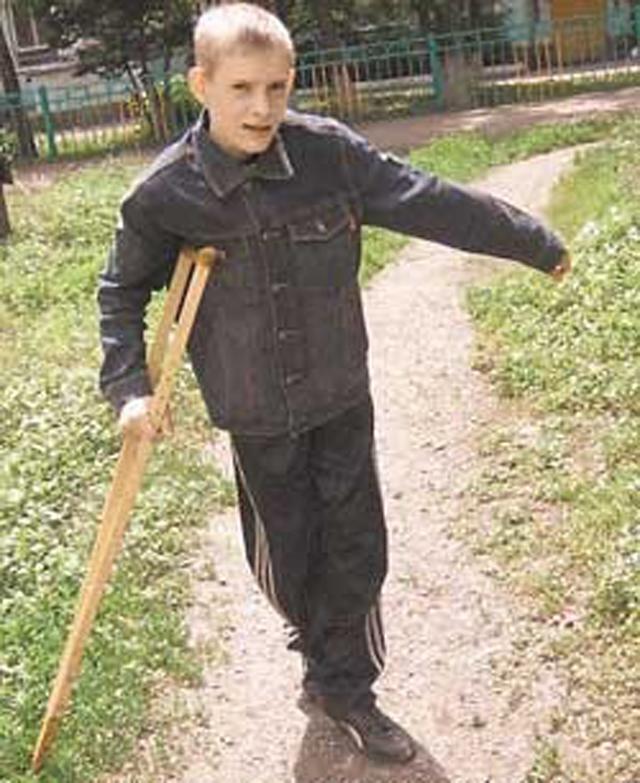 Леша Сеитов в детстве.