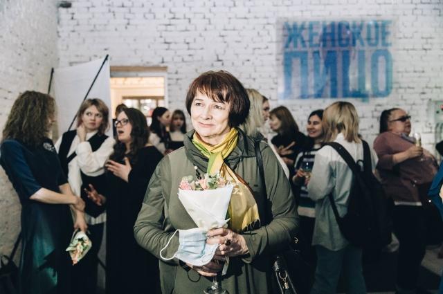 Татьяна Марголина на открытии выставки.