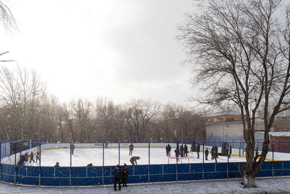 Хоккейная коробка в Челябинске.