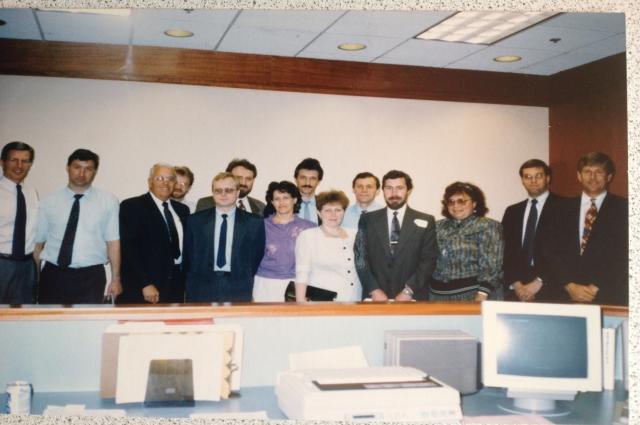 Одна из первых американских делегаций во Владивостоке.