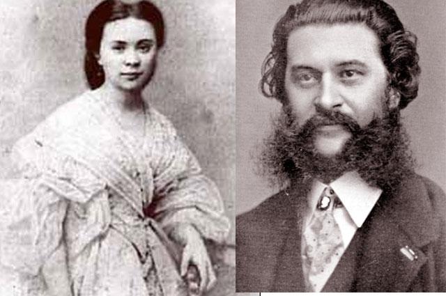 Иоганн Штраус (сын) и Ольга Смирницкая